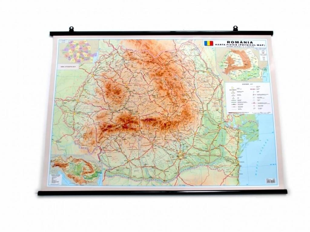 Harta Romania 50x70 Cm Aquila Harta R Atlase Globuri