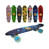 Placa skateboard, roti silicon, led, Grafitti